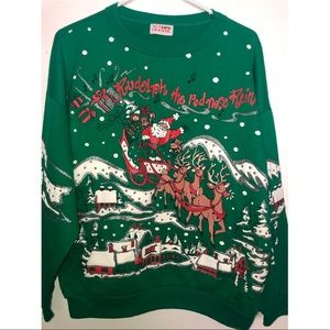 Nutcracker Christmas Sweater (Vtg)